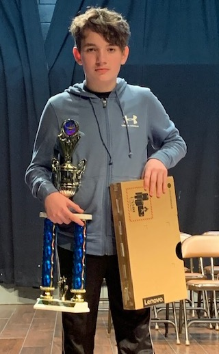 Ethan Reese Wins District Spelling Bee